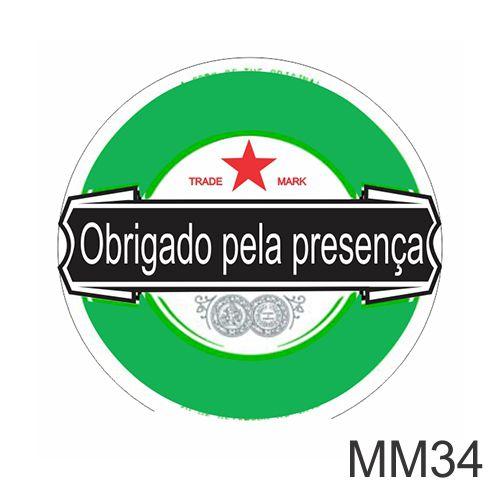 ADESIVO HEINEKEN - OBRIGADO PELA PRESENÇA