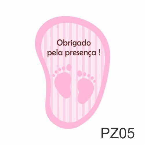 ADESIVO PÉZINHO - OBRIGADO PELA PRESENÇA