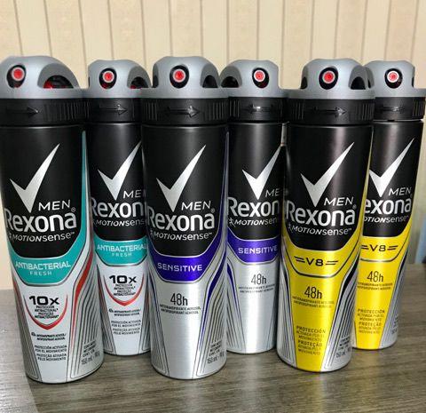 Kit Desodorante Rexona Men V8 48 horas Aerosol Masculino 150ml sortido