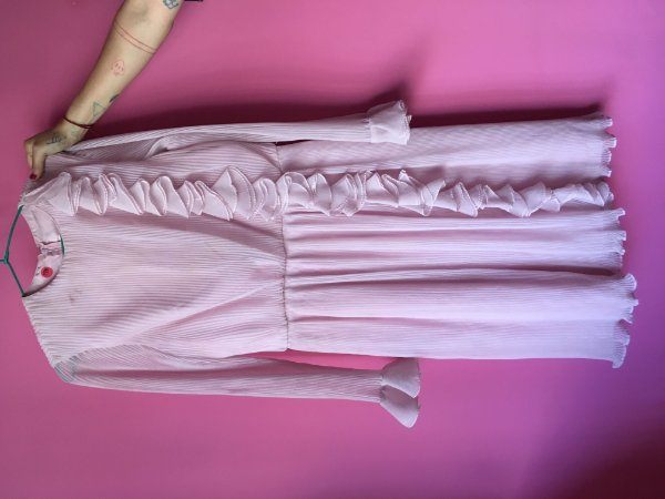 vestido rosa brechó - tamanho P
