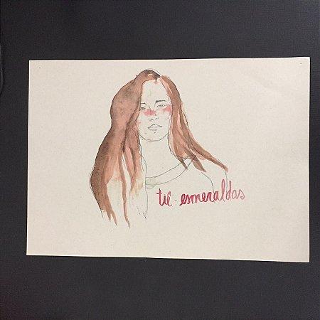 Poster Tiê Esmeraldas por Rita Wainer