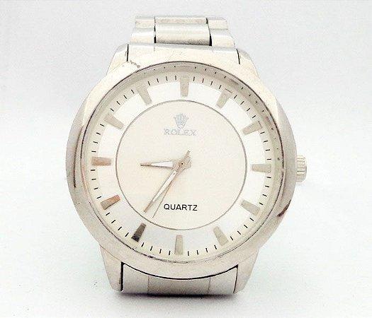 dbded8a21fd Relógio Rolex Prata MOD 51709 - Atacado Barato