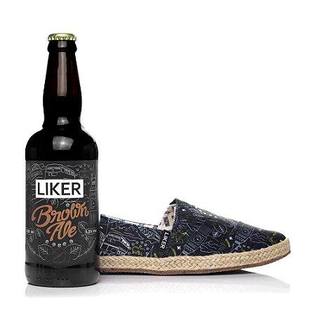 Alpargata Liker Beer Collection + cerveja artesanal Liker Brown Ale