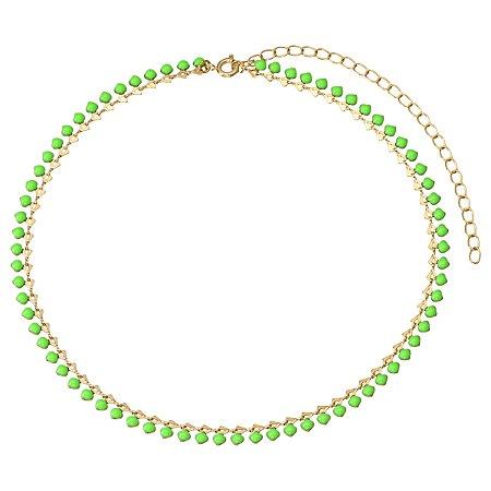 Colar Verde Neon