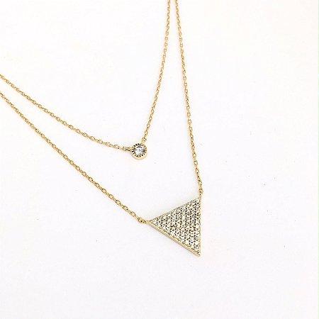 Colar Ponto e Triâgulo