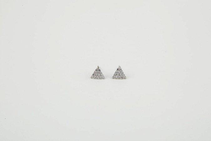 Brinco Triangulo Cravejado
