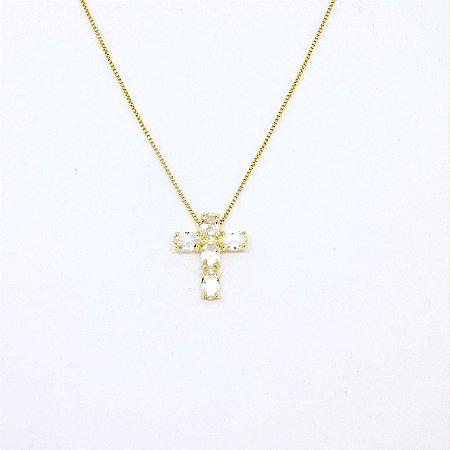 Colar Crucifixo Ouro