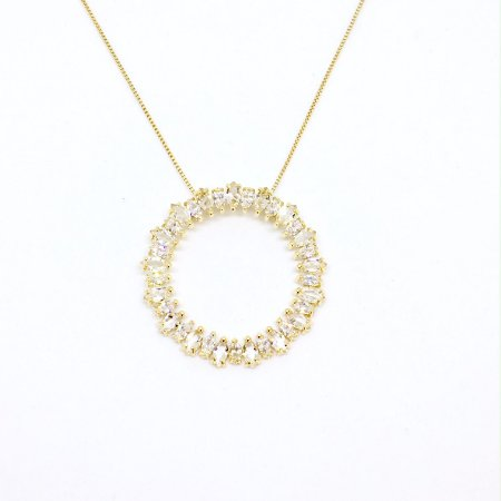 Colar Mandala Ouro Cristal