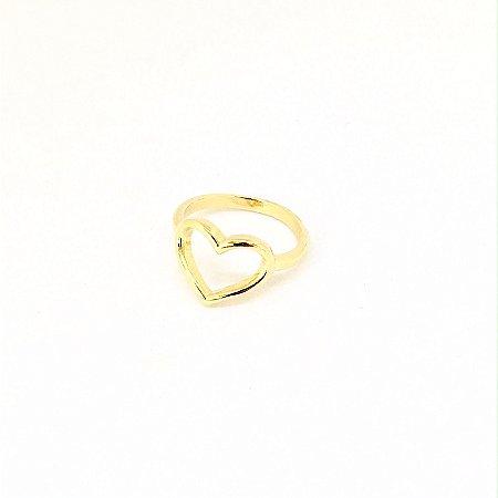 Anel Coração Ouro