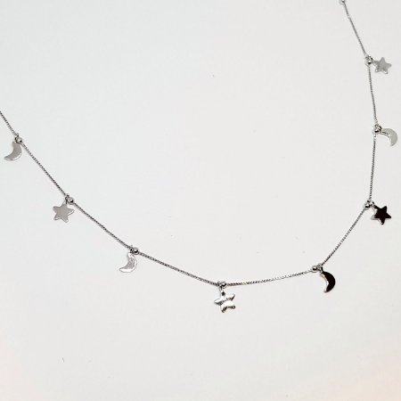Colar lua e estrela