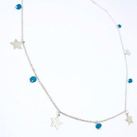 Choker Estrela e Pedra