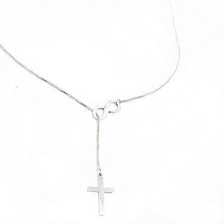 Colar infinito e cruz