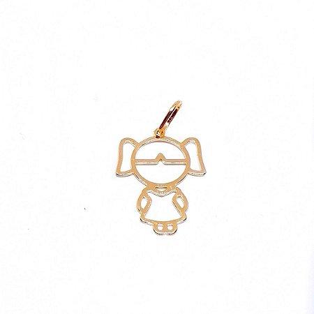 Pingente menino/a ouro