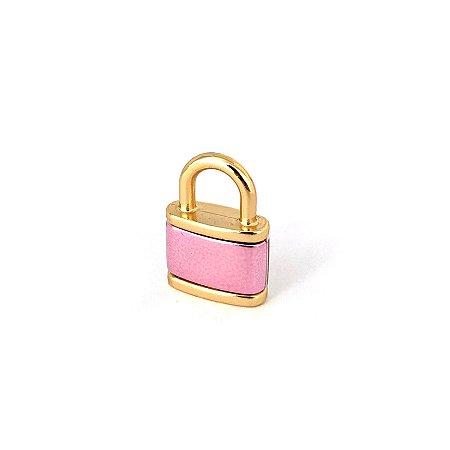 Pingente Cadeado Verniz Pink