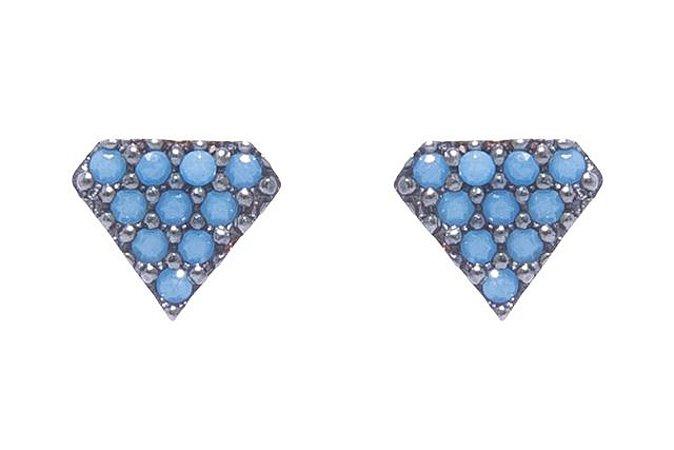 Brinco Diamante Turquesa