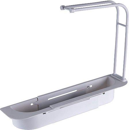 Organizador Expansível p/ Pias c/ Escorredor e Porta Toalhas