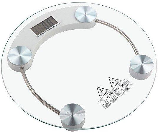 Balança de Banheiro Digital Vidro Temperado Até 180 Kg