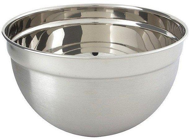 Recipiente Bowl Inox Grande p/ Uso Culinário 26 cm