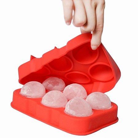 Forma para Gelo, Bolos e Popcake Silicone Esfera