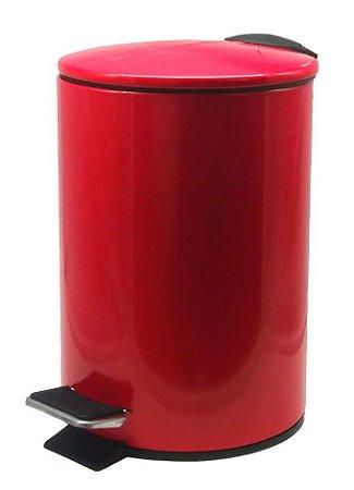 Lixeira Em Aço Inox Colorido c/ Pedal e Balde 3 Litros
