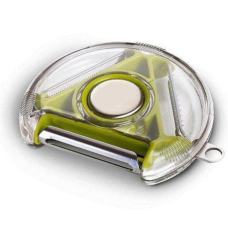Descascador Rotacional Circular Fitas Fatiador 3 lâminas