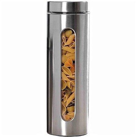 Porta Mantimentos em Vidro e Inox c/ Visor 3 L