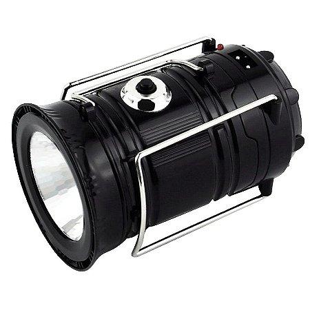 Lampião e Lanterna LED Recarregável Energia Solar e USB