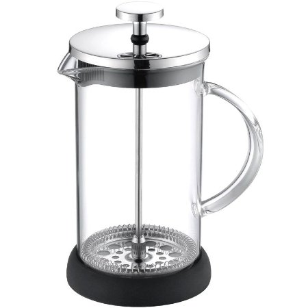 Cafeteira Francesa French Press Inox e Vidro 600 ml