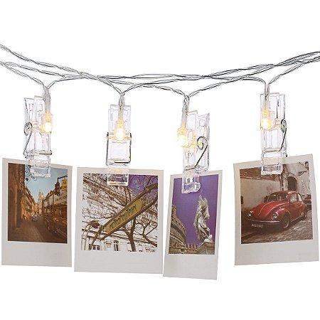 Varal Decorativo com Led p/ Fotos e Recados 1,80 m