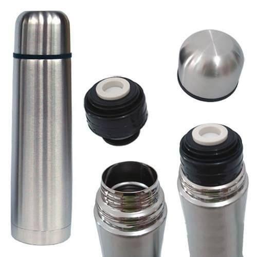 Garrafa Térmica Inox 1 Litro Inquebrável - Grátis bolsa de proteção
