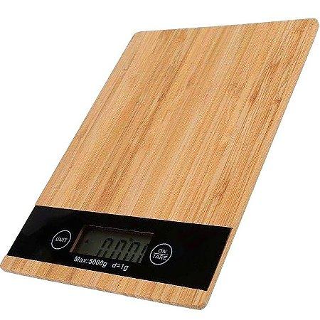 Balança de Cozinha Digital Alta Precisão Madeira 1g em 1g