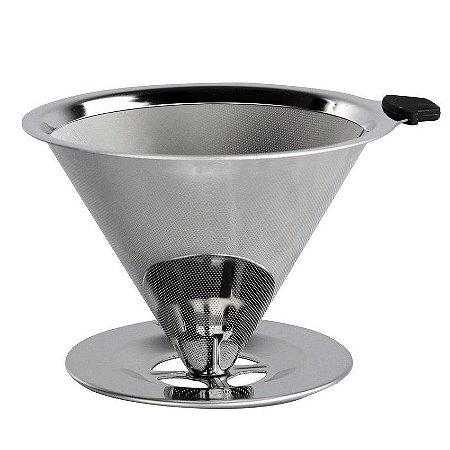 Filtro Coador p/ Café Reutilizável Inox Ultrafino Medio