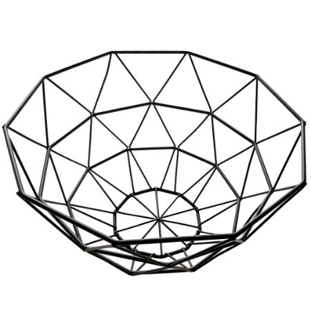 Recipiente Fruteira Geométrica Minimalista Esmaltada