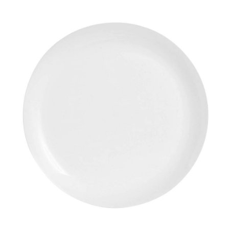 Prato Sobremesa Branco Vidro Temperado Super Resistente 20cm