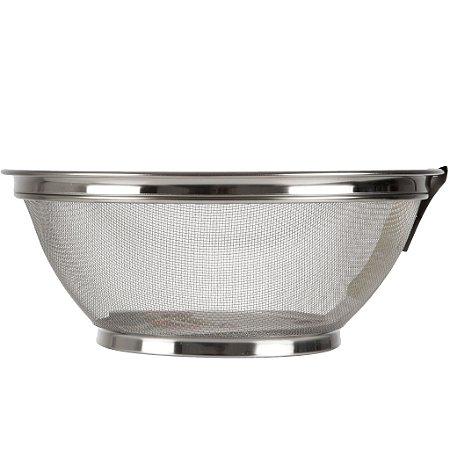 Escorredor de Alimentos p/ Cozinha em Inox Telado 28 cm