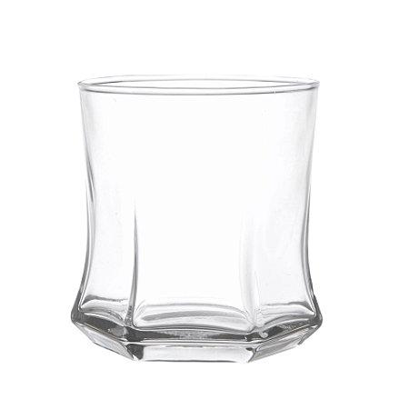 Jogo 6 Copos Baixos p/ Whisky e Drinks em Vidro