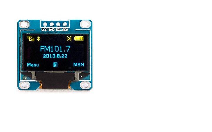DISPLAY e LCD Azul Oled 128x64 0.96 I2c
