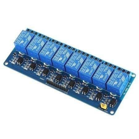 Modulo eletronico de 8 reles 5V acionamento em GND