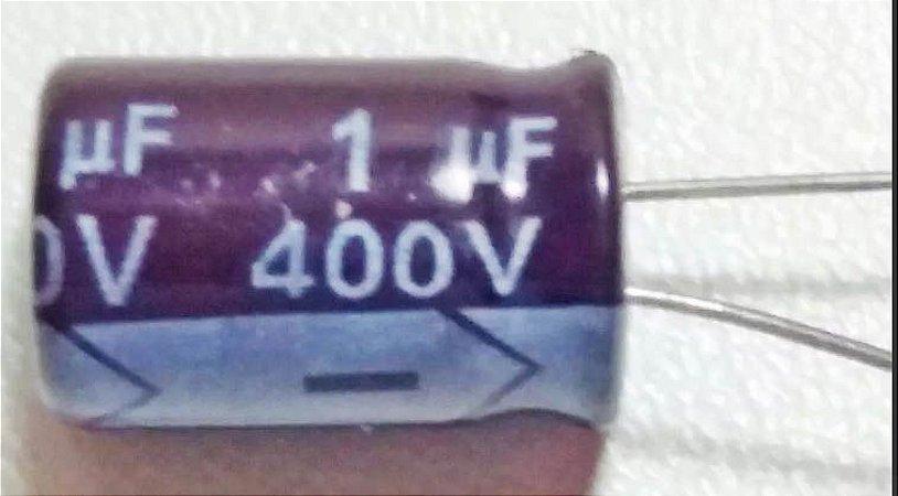 Capacitor Eletrolítico 1uF x 400V
