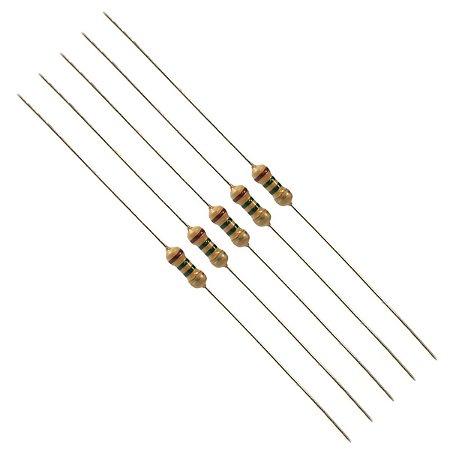 Resistor 1K Kit 10 peças 1/4W 5%