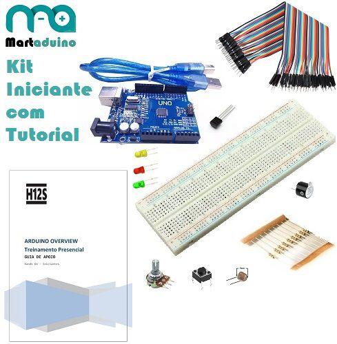 Kit Arduino Iniciante com UNO R3 e Tuturial Passo a Passo