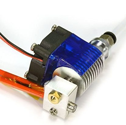 Cabeça de Extrusora E3D V6 nariz de 0.3 mm para filamento 1.75 mm com conectores RAMPS 1.4