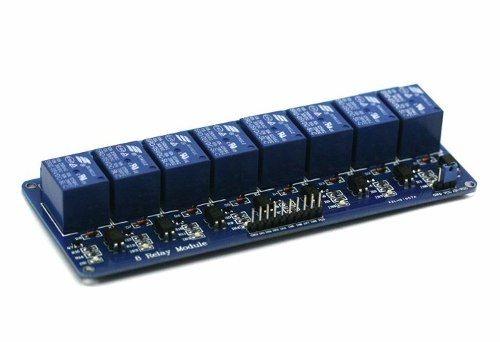 Modulo eletronico de 8 reles 5V acionamento em 5V