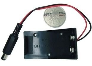 Caixa para Bateria de 9V com Plug 2.1 x 5.5mm