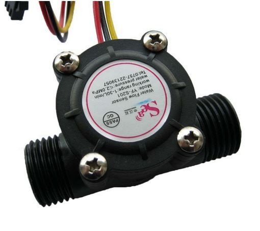Sensor de Fluxo de Água (1/2) 1-30l/min 5-24V