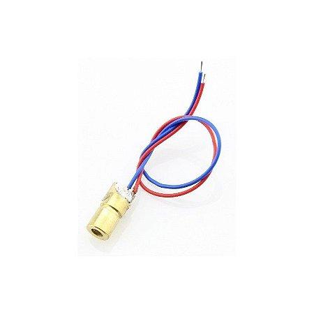 Diodo Laser Vermelho 650nm 5V 5 mWatts