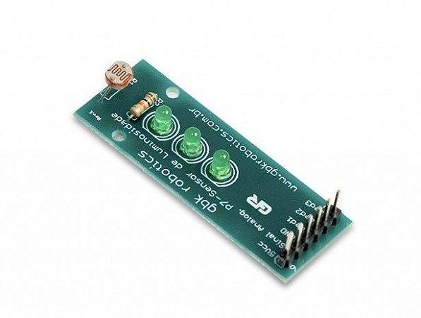 Modulo Sensor de Luz com LDR + Sequencial de Leds GBK P7