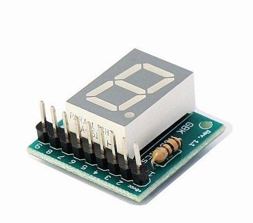 Modulo DISPLAY e LCD Anodo Comum 1 Digito 7 Seg. GBK P11