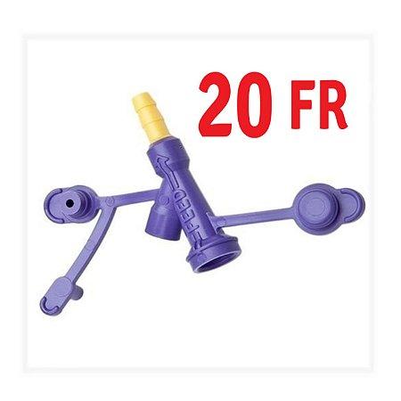 Adaptador para extensor e sonda de gastrostomia Tipo BOTTON KANGAROO - 20FR