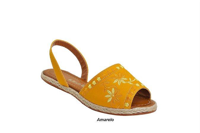 Sandália Avarca com Bordado Floral 6 pares no : : Atacado : :